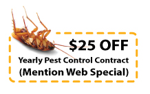 25 dollars off yearly pest control contract